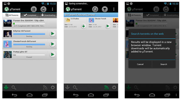 uTorrent Beta Android App